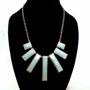 Green Bar Bib Style Statement Necklace